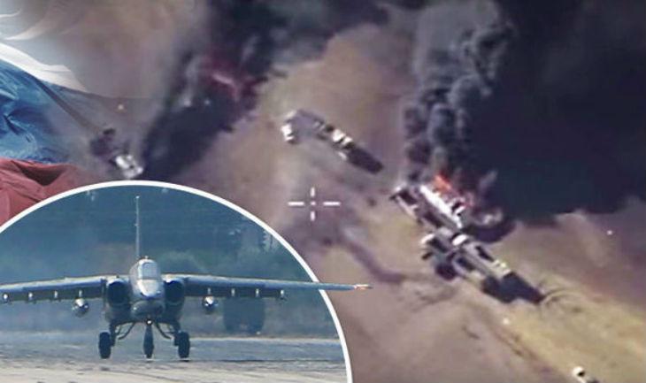 Exclusif : Des avions de chasse russes écrasent les camions citernes de l'Etat islamique. 12 000 ont été repérés à la frontière turque