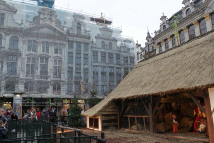 Bruxelles : La crèche de la Grand-Place vandalisée
