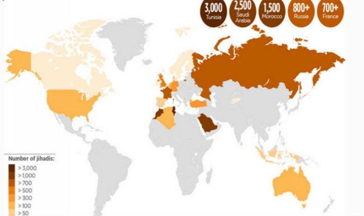 Quel pays exporte le plus de combattants djihadistes en Syrie ?