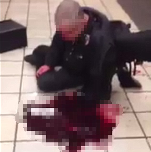 Mohammed Qurban - ?@MohammedQurban3 Just got a new video from the #Leytonstone attack - Truly sickening warning very graphical - Truly sad Leytonstone stabbing incident ***TWITTER VIDEO STILL***