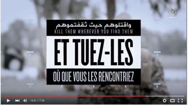 Attentats à Paris : L'Etat islamique met en scène les terroristes du Bataclan dans une vidéo menaçant la France