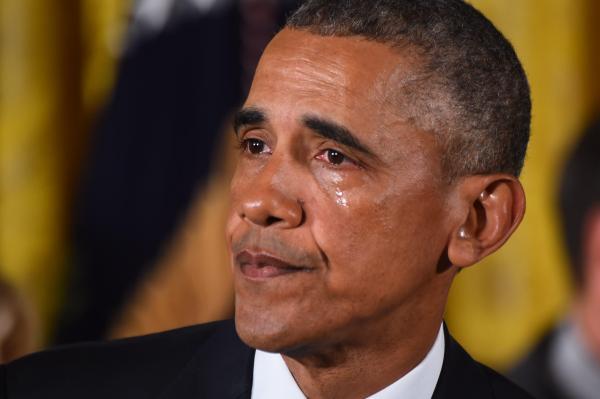 Obama pleure 2