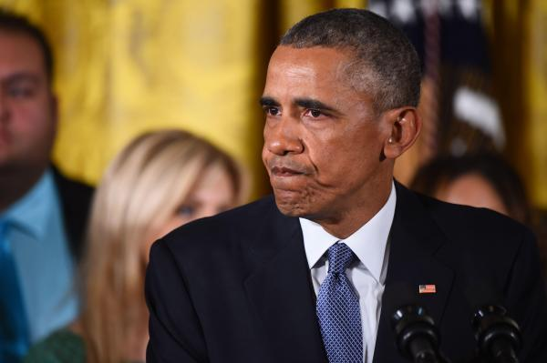Obama pleure