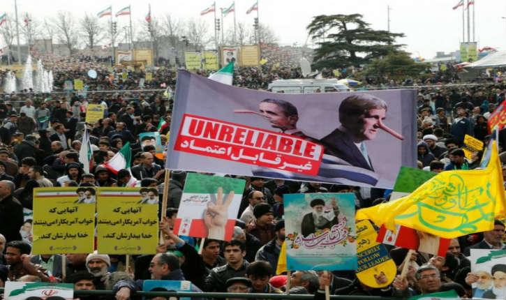 Iran: 37e anniversaire de la Révolution islamique sous des pancartes proclamant «Mort à l'Amérique» et «Mort à Israël»