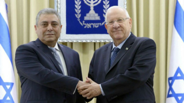 Rivlin et ambassadeur Egypte