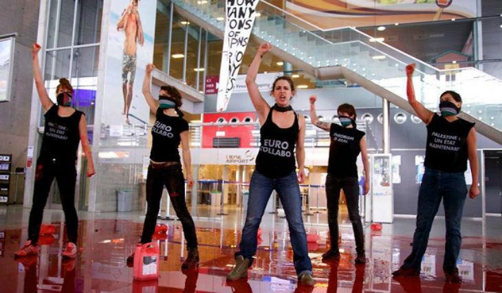 Les islamo-gauchistes de BDS espéraient déjà du sang à l'aéroport de Bruxelles en 2014
