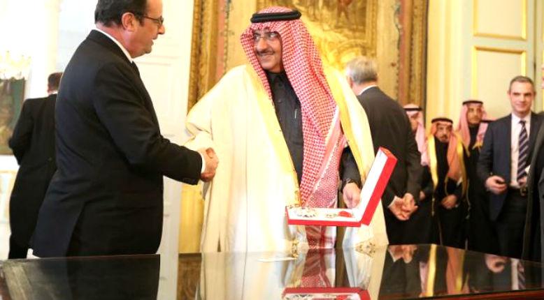 Le FN demande le «retrait» de la Légion d'honneur au prince saoudie