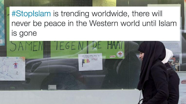 #StopIslam, #EradicateIslam, les hashtag les plus utilisés après les attentats de Bruxelles