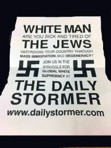 Neo-Nazi flyer hacked into American university campuses on March 25 2016
