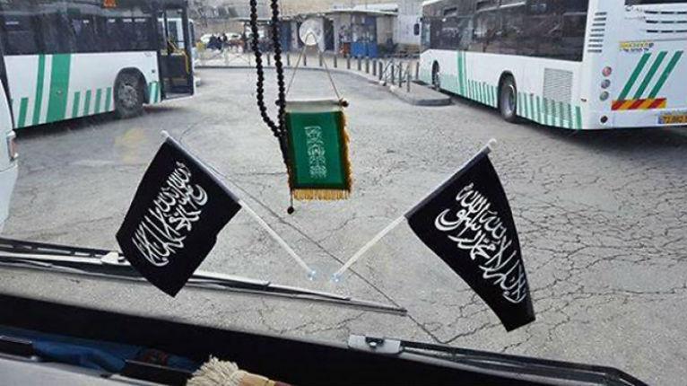 Israël : Des drapeaux salafistes et de l'Etat islamique dans des bus publics à Jérusalem-Est