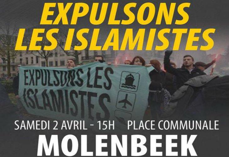 Molenbeek : Manifestation européenne identitaire interdite par la bourgmestre… mais pas les islamistes