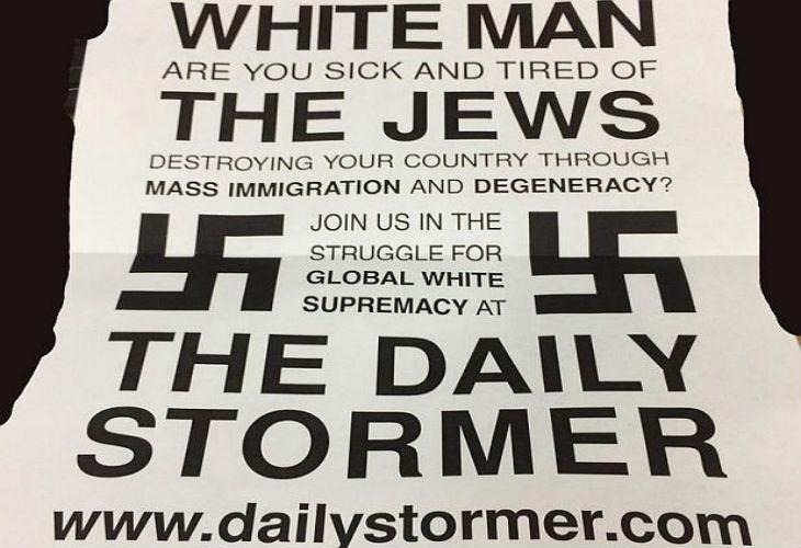 Etats Unis : Les imprimantes des universités piratées impriment des tracts néo-nazis qui accusent les Juifs de détruire la vie américaine