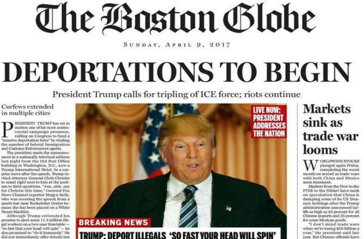 États-Unis : Le Boston Globe publie une fausse «Une» pour stigmatiser Donald Trump et inciter les Républicains à le stopper