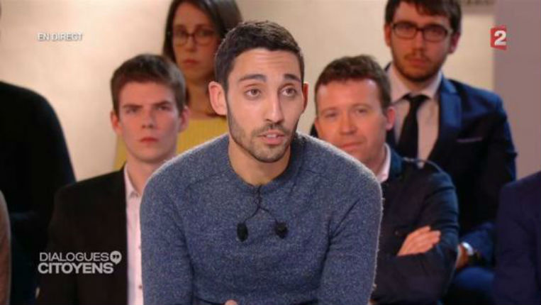 Marwen Belkaid, le bon «citoyen» choisi par France 2 face à Hollande est antisémite, anti-israélien et négationniste