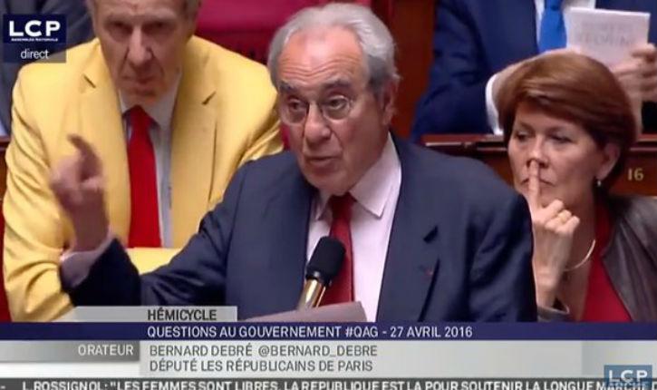 [Vidéo] Bernard Debré (LR) s'inquiète de « la montée du racisme anti-blanc et de l'antisémitisme  »