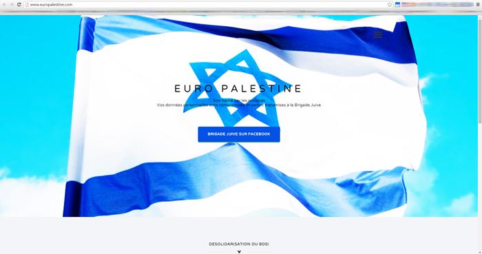 Le site Europalestine vient d'être hacké par des cyber résistants juifs