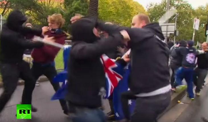 Melbourne, Australie : Violents affrontements entre extrême gauche et anti-Islam