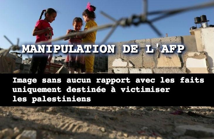 La désinformation de l'AFP continue: «Deux raids israéliens sur Gaza» sans préciser que ce sont des cibles terroristes qui étaient visées