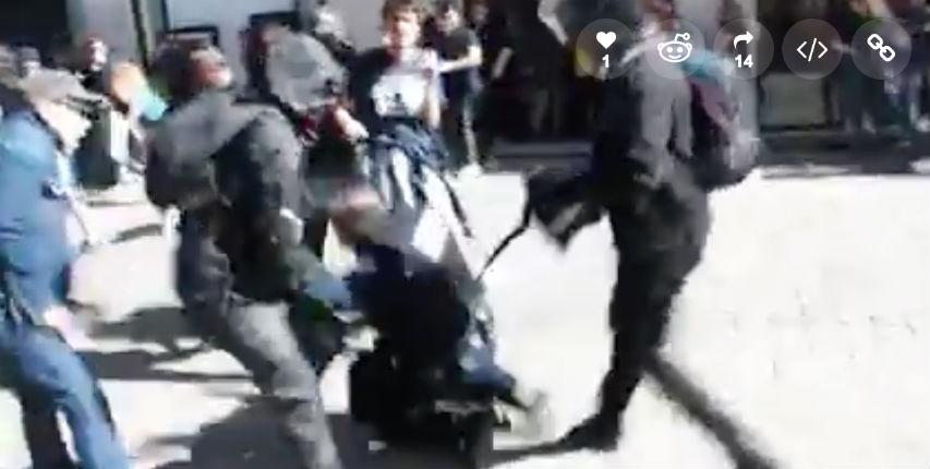 [Vidéo] Nantes : Violent lynchage d'un policier isolé par des casseurs gauchistes