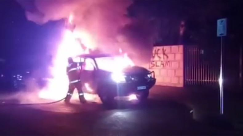 [Vidéo] Australie : une mosquée de Perth attaquée à la bombe incendiaire en pleine prière. «Fuck Islam» était peint sur le mur