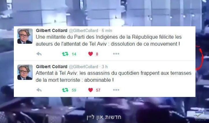 Attentat islamiste de Tel Aviv : Un militante des indigènes de la République félicite les terroristes. Gilbert Collard demande la dissolution de ce mouvement islamiste
