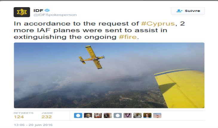 Israël, la Grande-Bretagne et la Grèce aident à la lutte contre les feux de forêt à Chypre