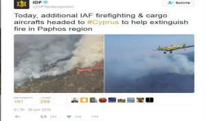 IDF sur Twitter - Today additional IAF firefighting & cargo aircrafts headed to #Cyprus to help extinguish fire in Paphos region https---t