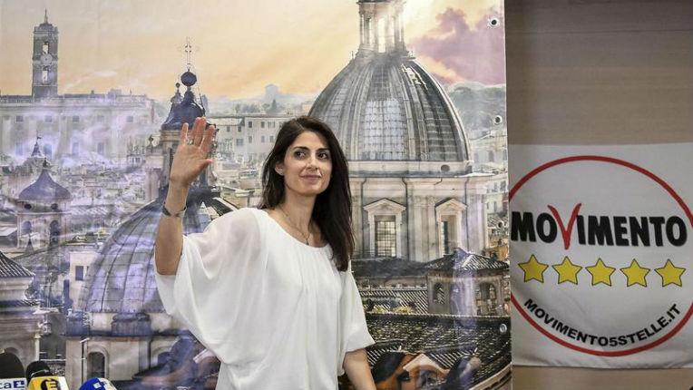 Virginia Raggi du Mouvement 5 étoiles élue maire de Rome