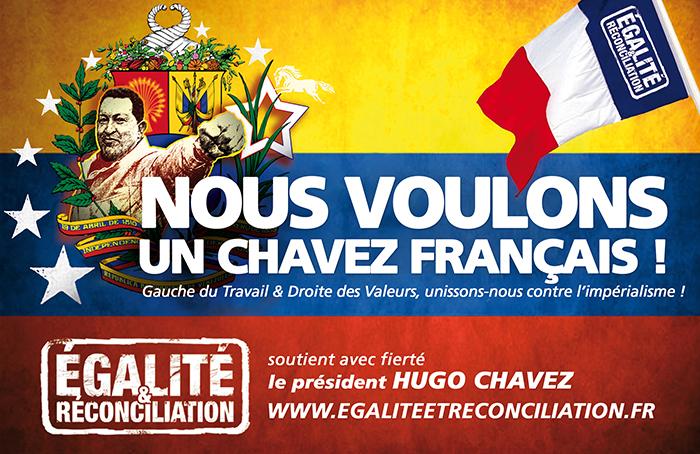 Egalité & Réconciliation rêve d'un Chavez