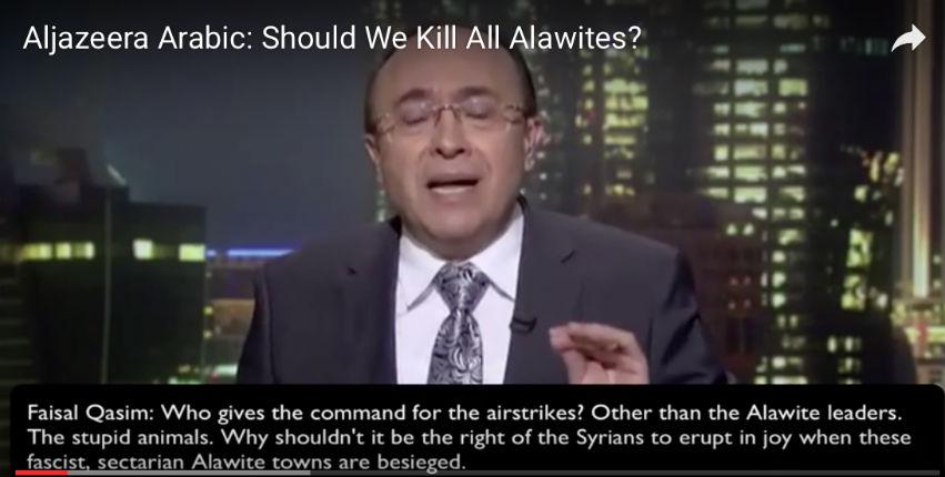 [Vidéo] Débat surréaliste sur Al Jazeera : «Devons-nous génocider les alaouites?»… Religion de paix ?