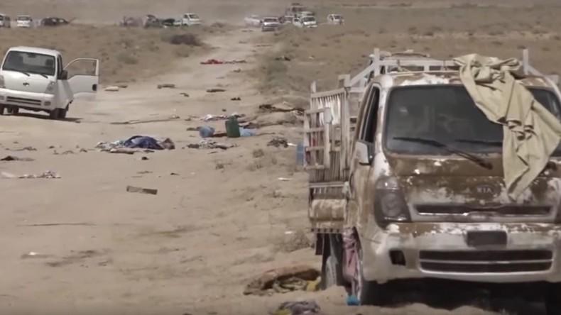 [Vidéo] Plus de 150 djihadistes et 260 véhicules de Daesh détruits par des frappes près de Falloujah. Avertissement : Images choquantes