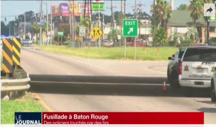 [Vidéo] USA: Trois policiers tués par des tirs à Baton Rouge en Louisiane