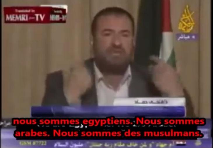 [Vidéo] Révélation du ministre de l'intérieur du Hamas qui dévoile la vérité sur l'origine des «palestiniens» : «La moitié sont égyptiens et l'autre moitié sont saoudiens». Il dévoile l'imposture du «peuple palestinien»