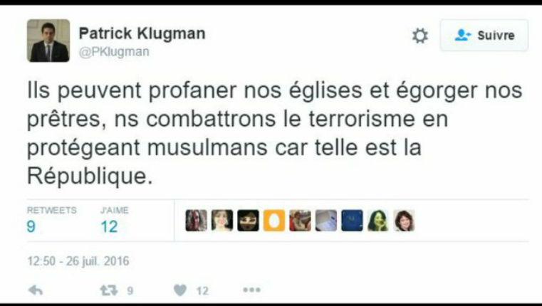tweet Patrick Klugman