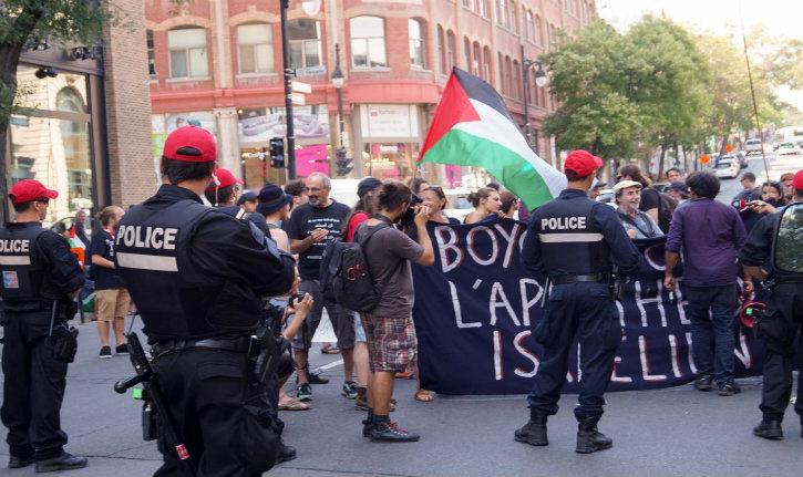 Vidéo : Montréal, des membres de la LDJ agressés par des «antifa» pro palestiniens