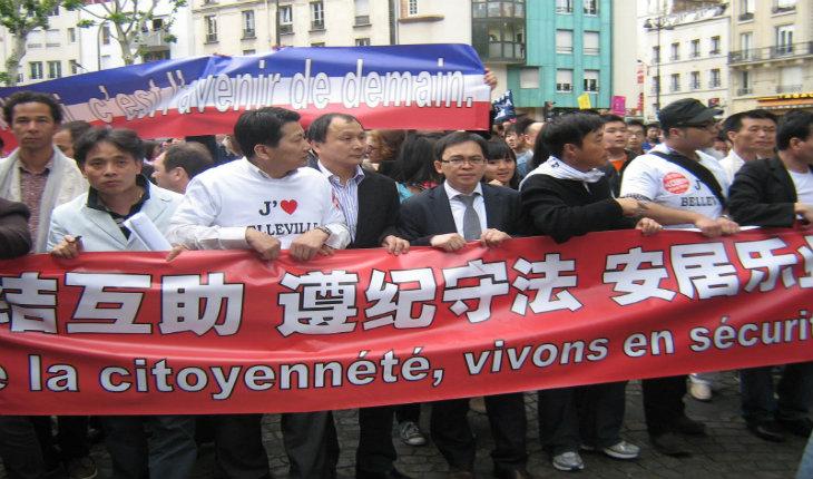 Près de 2000 Chinois manifestent à Aubervilliers contre les agressions