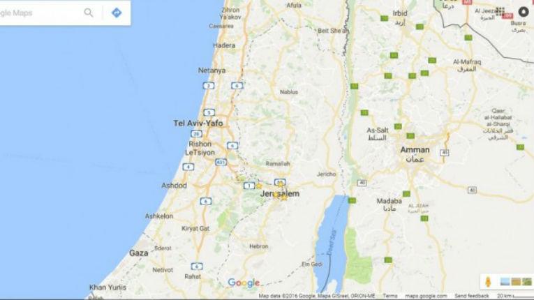 Le porte-parole de Google « Il n'y a jamais eu de 'Palestine' sur Google Maps »