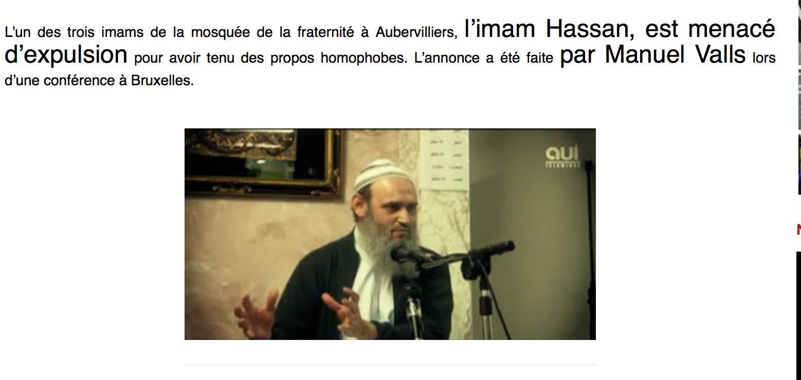 Imam salafistes Aubervilliers