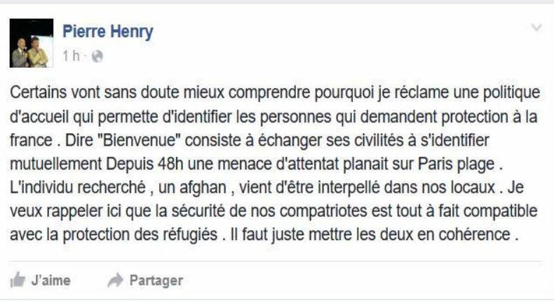 Menace d'attentat à Paris Plages : Le migrant afghan recherché par la police arrêté chez France Terre d Asile