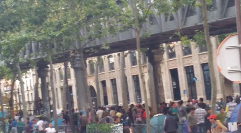 [Vidéo] A Paris, la police disperse quotidiennement des bagarres entre migrants
