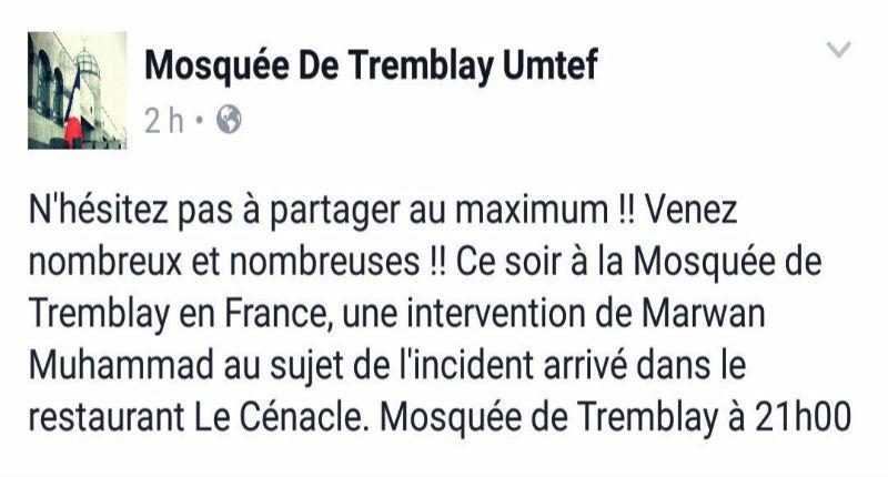 [Vidéo] Tremblay-en-France (93) : Le restaurateur quitte son domicile suite des provocations d'islamistes