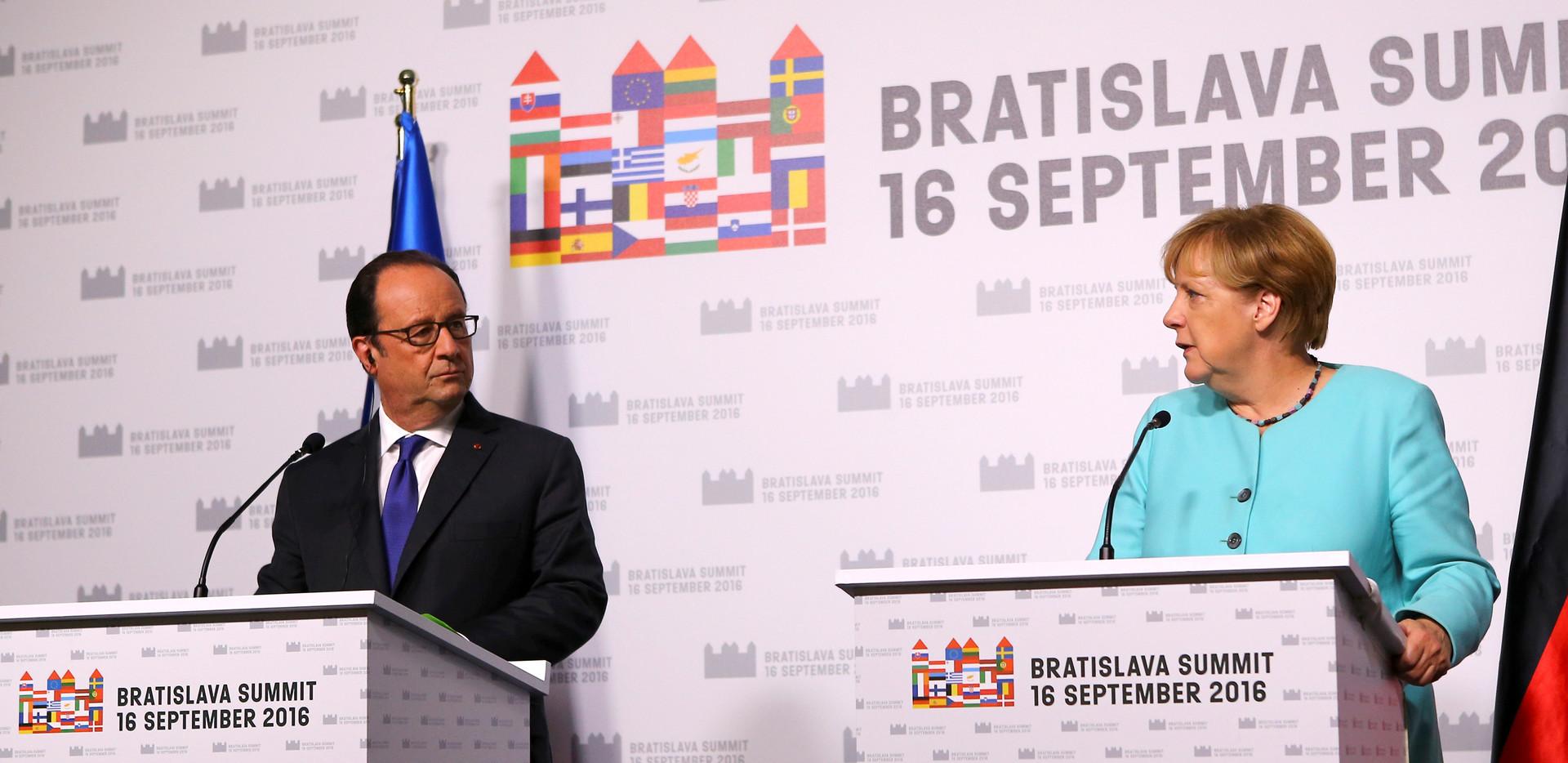 Bratislava Hollande et Merkel