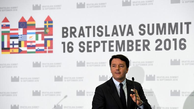 Matteo Renzi sur le sommet de l'UE : «Si les choses continuent ainsi nous parlerons du fantôme de l'Europe»