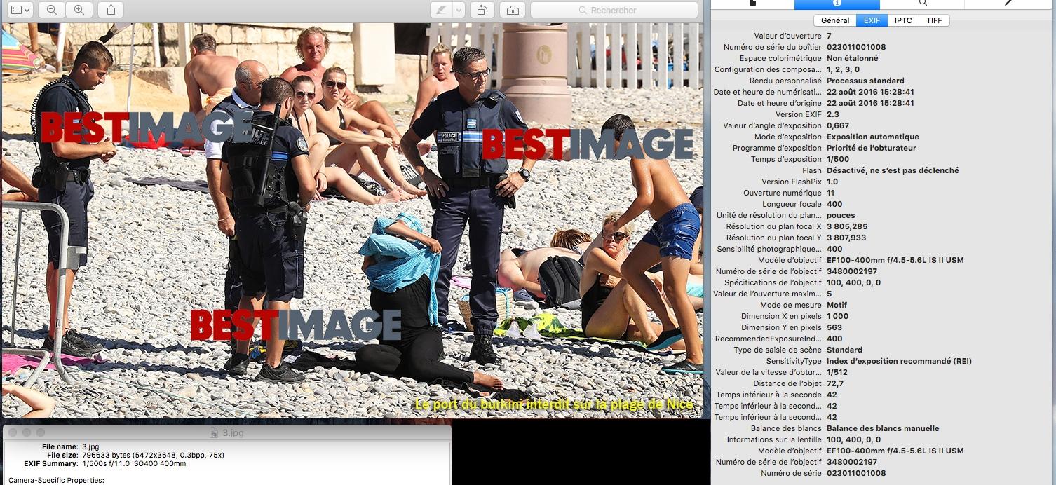 En lisant les métadonnées d'une photographie on retrouve beaucoup d'informations, dont la distance de prise de vue (c) Bestimage (site web)