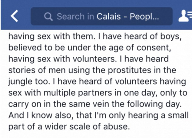 Jungle sexe calais Facebook