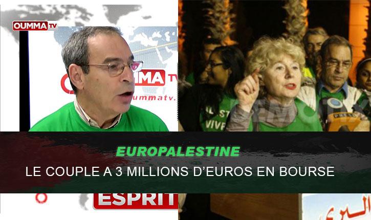 Etre pro-palestinien rapporte: plusieurs millions d'euros appartenant au fondateur de l'organisation EuroPalestine sont découverts sur plusieurs placements boursiers