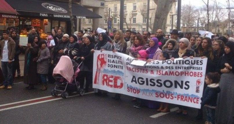 Nouvelle provocation islamiste : Le préfet autorise «la marche du foulard» organisée par des agitateurs islamistes pro-palestiniens à Avignon