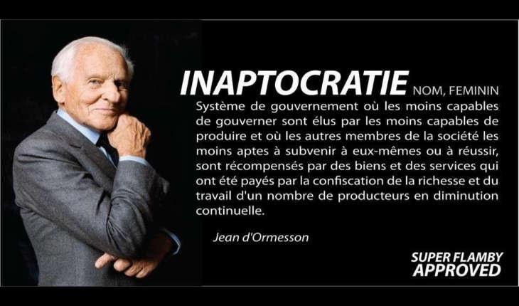 Jean d 39 ormesson l 39 inaptocratie ou la d construction for Bureau jean d ormesson