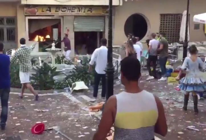 [Vidéo] Espagne: Explosion dans un café à Malaga, 77 blessés