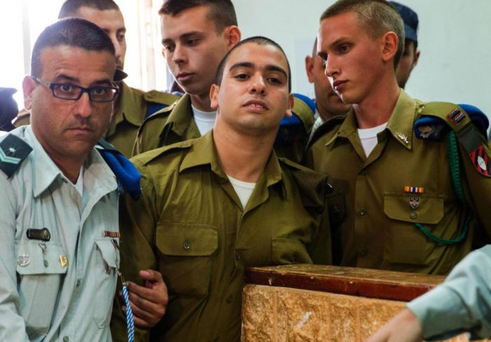 elor-azaria-in-the-jaffa-military-court-on-may-9